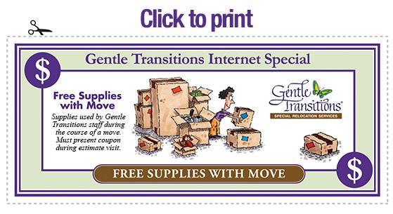 Discountc coupon on Senior Moving Supplies